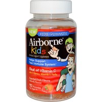 AirBorne, Kids, Blast of Vitamin C, Assorted Fruit Flavors, 42 Gummies