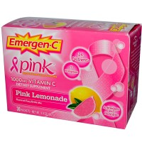 Emergen-C, Pink, 1,000 mg Vitamin C, Pink Lemonade, 30 Packets, 9.9 g Each