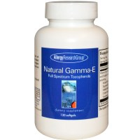 Allergy Research Group, Natural Gamma-E, Full Spectrum Tocopherols, 120 Softgels