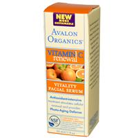 Avalon Organics, Intense Defense, with Vitamin C, Facial Serum, 1 fl oz (30 ml)