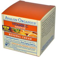 Avalon Organics, Intense Defense with Vitamin C Renewal Cream, 2 oz (57 g)