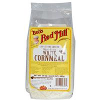 Bob's Red Mill, White Cornmeal, Whole Grain, 24 oz (680 g)