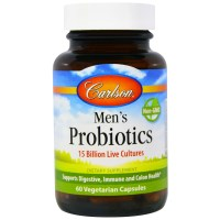 Carlson Labs, Men's Probiotics, 60 Veggie Caps