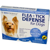 21st Century, Flea + Tick Defense for Dogs up to 22 lbs., 3 Applicators, 0.023 fl oz Each