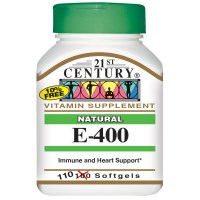 21st Century, E-400, Natural, 110 Softgels