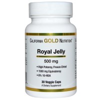 California Gold Nutrition, Royal Jelly , 500 mg, 30 Veggie Caps