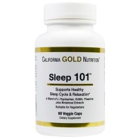 California Gold Nutrition, Sleep 101, 60 Veggie Caps
