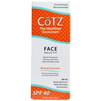 Cotz, Face, Natural Tint Sunscreen, SPF 40, 1.5 oz (42.5 g)
