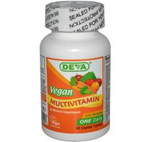 Deva, Multivitamin &amp, Mineral Supplement, Vegan, 90 Coated Tablets