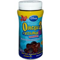 Disney, Omega-3 + Vitamin D3 Gummies, 120 Gummy Fish