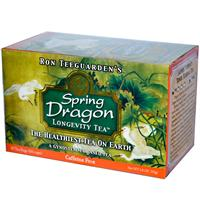 Dragon Herbs, Spring Dragon Longevity Tea, Caffeine Free, 20 Tea Bags, 1.8 oz (50 g)