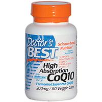 Doctor's Best, High Absorption CoQ10, 200 mg, 60 Veggie Caps