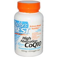 Doctor's Best, CoQ10, with BioPerine, 100 mg, 120 Veggie Caps