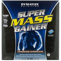 Dymatize Nutrition, Super Mass Gainer, Hardcore Chocolate, 12 lbs (5,443 g)