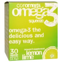 Coromega, Omega3 Squeeze, Lemon Lime, 30 Squeeze Packets, 2.5 g Each