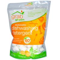 GrabGreen, Automatic Dishwashing Detergent, Tangerine with Lemongrass, 60 Loads, 2 lbs 4 oz (1080 g)