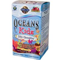 Garden of Life, Oceans Kids, DHA Chewables, Age 3 And Older, Berry Lime, 120 Chewable Softgels