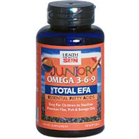 Health From The Sun, Junior Omega 3-6-9, The Total EFA, 90 Soft Gels