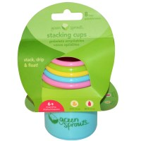 iPlay Inc., Green Sprouts, Stacking Cups, 6+ Months, 8 Cups