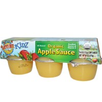 Earth's Best, Kidz, Organic Apple Sauce, 6 Containers, 4 oz (113 g) Each