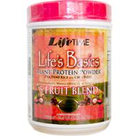 Life Time, Life's Basics, Plant Protein Mix, with 5-Fruit Blend, 20.69 oz (586.5 g)