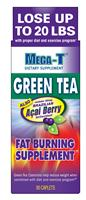 Mega-T, Green Tea with Acai Berry, Fat Burning Supplement, 90 Caplets