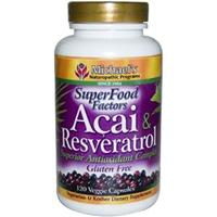 Michael's Naturopathic, SuperFood Factors, Acai & Resveratrol, Superior Antioxidant Complex, 120 Veggie Caps