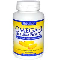 Madre Labs, Omega-3 Premium Fish Oil, 100 Softgels