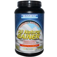 MRM, All Natural Gainer, Rich Vanilla, 3.3 lbs (1512 g)