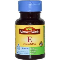 Nature Made, Vitamin E, 200 IU, 100 Liquid Softgels