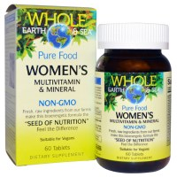 Natural Factors, Whole Earth &, Sea, Women's Multivitamin &, Mineral, 60 Tablets