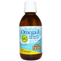 Natural Factors, SeaRich Omega-3 with Vitamin D3, Lemon Meringue, 6.76 fl oz (200 ml)