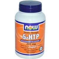 Now Foods, 5-HTP, Double Strength, 200 mg, 120 Veggie Caps