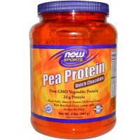 Now Foods, Sports, Pea Protein, Dutch Chocolate, 2 lbs (907 g)