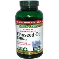 Nature's Bounty, Flaxseed Oil, 1200 mg, 200 Softgels