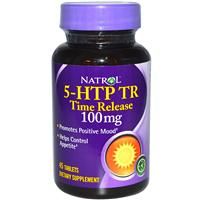 Natrol, 5-HTP TR, Time Release, 100 mg, 45 Tablets