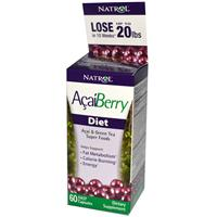 Natrol, AcaiBerry Diet, Acai &amp, Green Tea Super Foods, 60 Veggie Caps