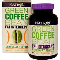 Natrol, Green Coffee Bean Fat Intercept, with Raspberry Ketone, 60 Tablets
