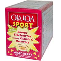 Ola Loa, Energy Electrolytes Vitamin C Recovery, Mixed Berry, 1000 mg, 30 Packets, (7.5 g) Each