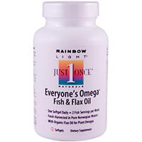 Rainbow Light, Everyone's Omega Fish &, Flax Oil, 60 Softgels