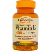 Rexall Sundown Naturals, Vitamin E, 400 IU, 100 Softgels