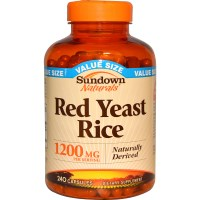 Rexall Sundown Naturals, Red Yeast Rice, 1200 mg, 240 Capsules