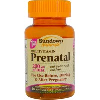 Rexall Sundown Naturals, Prenatal, Multivitamin, With Folic Acid and Iron, 30 Softgels