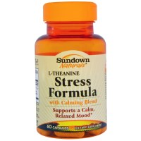 Rexall Sundown Naturals, Stress Formula, L-Theanine, 60 Capsules
