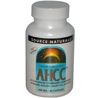 Source Naturals, AHCC with Bioperine, 500 mg, 60 Capsules
