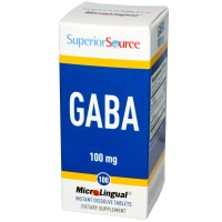 Superior Source, GABA, 100 mg, 100 MicroLingual Instant Dissolve Tablets