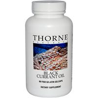 Thorne Research, Black Currant Oil, 90 Fish Gelatin Gelcaps