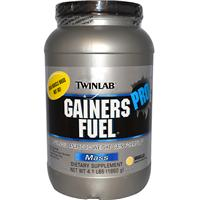 Twinlab, Gainers Fuel Pro, Advanced Anabolic Weight Gain Formula, Mass, Vanilla, 4.1 lbs (1860 g)