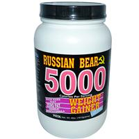 Vitol, Russian Bear 5000, Weight Gainer, Ice Cream Vanilla Flavor, 4 lbs. (1812 g)